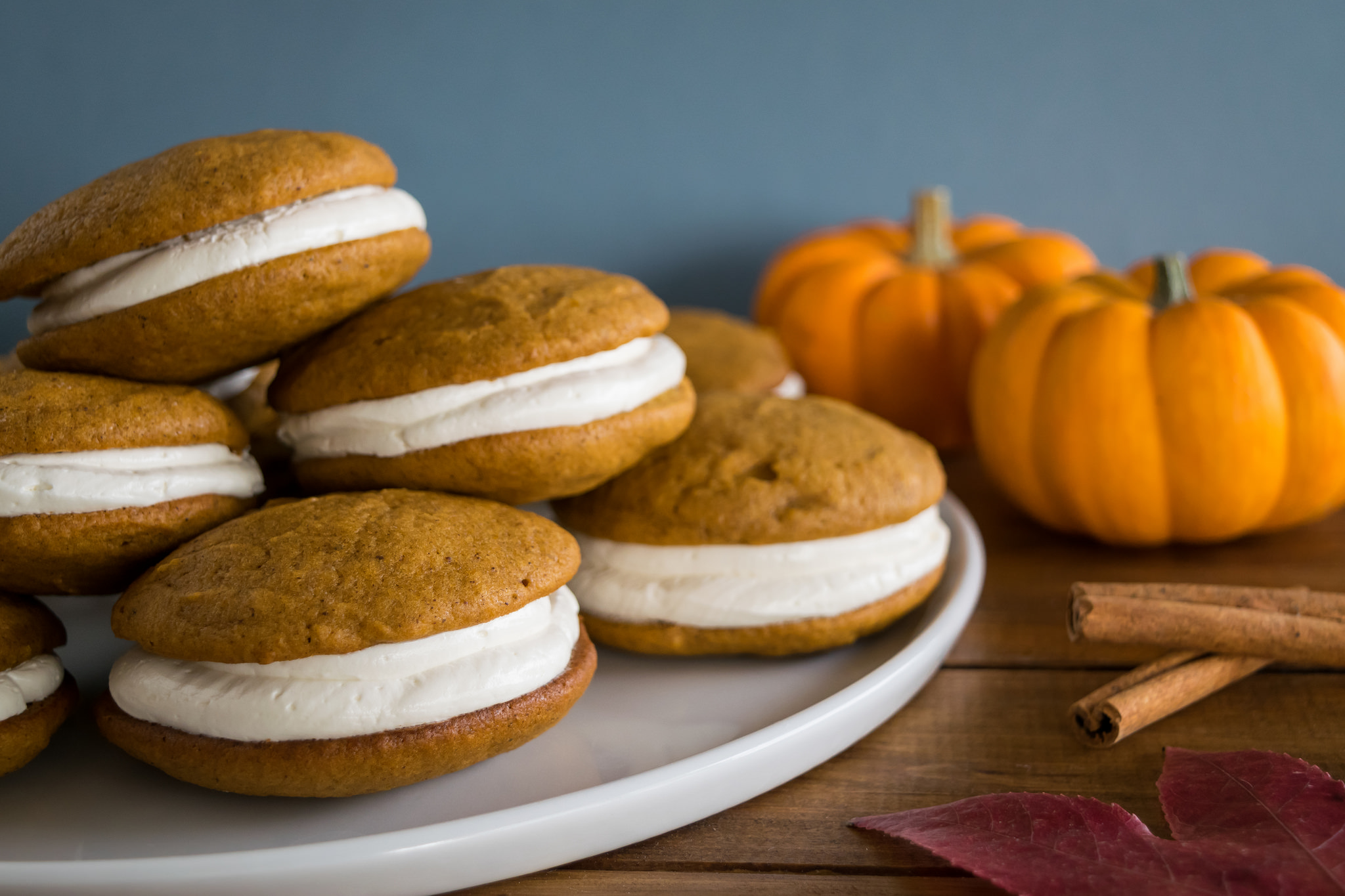 pumpkin whoopie pies with maple marshmallow cream | Husbands That Cook