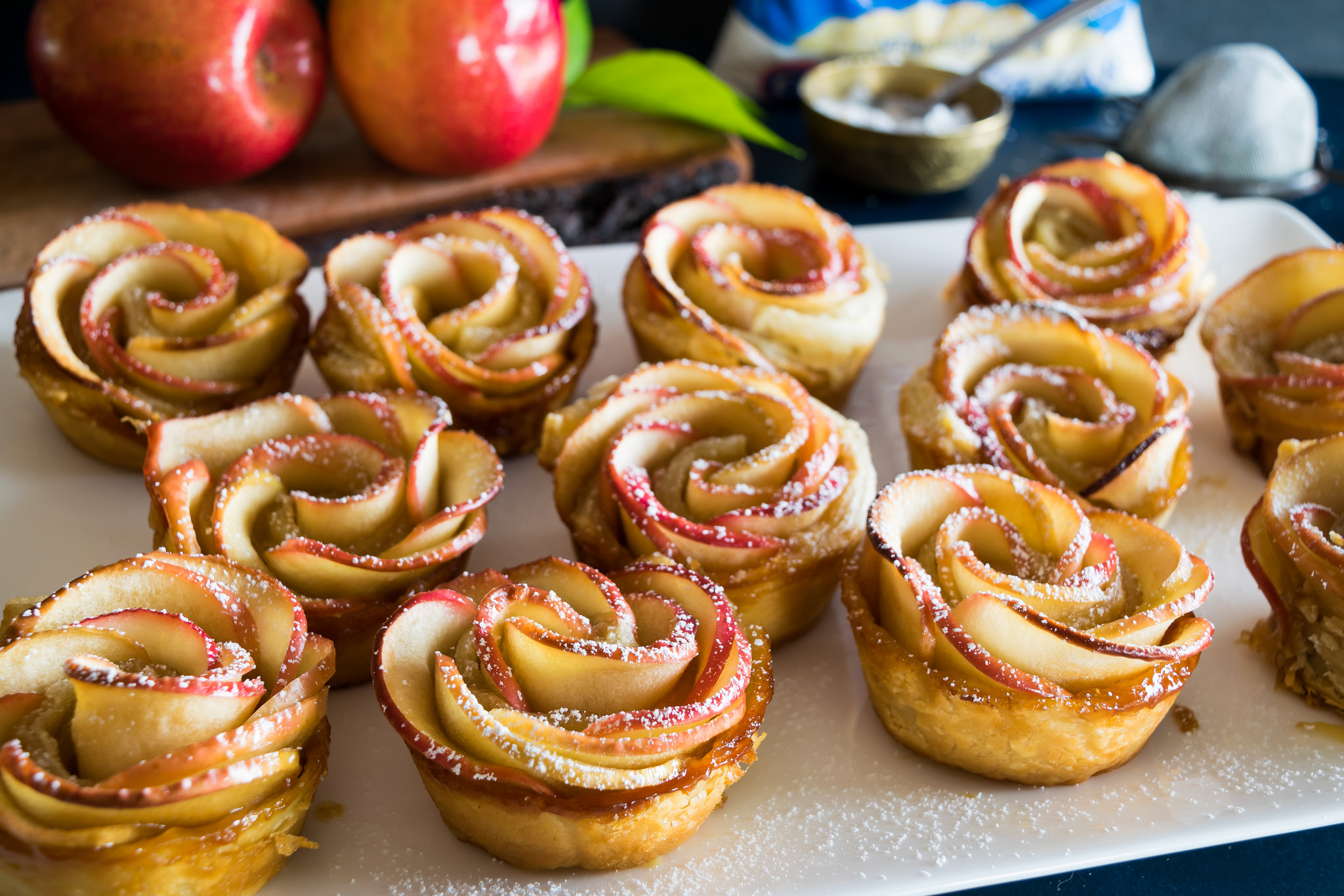 Baking Apple Cake For  People